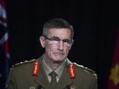 Chief of the Australian Defence Force General Angus Campbell delivers the findings from the Inspector-General of the Australian Defence Force Afghanistan Inquiry (Mick Tsikas/Pool Photo via AP)