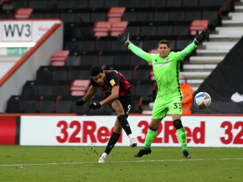 Bournemouth's Dominic Solanke scores his sides fourth goal (Kieran Cleeves/PA)