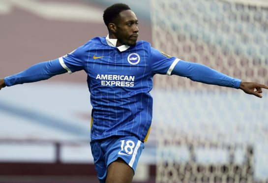 Danny Welbeck scored his first Brighton goal in the win at Aston Villa on Saturday (Tim Keeton/PA)