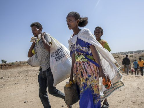 Tigray refugees who fled the conflict in the Ethiopia's Tigray (Nariman El-Mofty/AP)