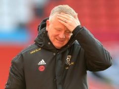 Sheffield United boss Chris Wilder insists the only realistic aim for his team now this season is Premier League survival (Mike Egerton/PA)