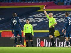 Nicolas Pepe was sent off for a headbutt (Paul Ellis/PA)