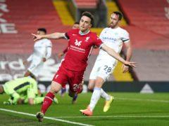 Diogo Jota scored Liverpool's second (Jon Super/PA)