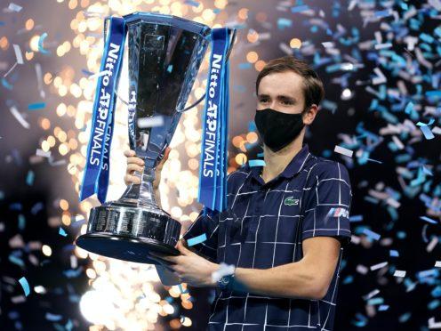 Daniil Medvedev holds aloft the Nitto ATP Finals trophy (John Walton/PA)