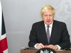 Boris Johnson spoke to the House of Commons via video link on Monday afternoon (House of Commons/PA)