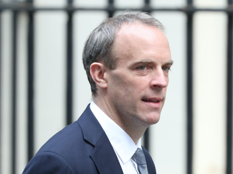 Foreign Secretary Dominic Raab said the cut to the foreign aid budget was regrettable but necessary (Yui Mok/PA)