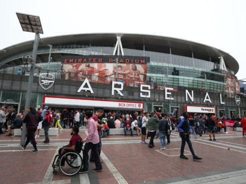 Fans arrive at the Emirates Stadium (Nick Potts/PA)