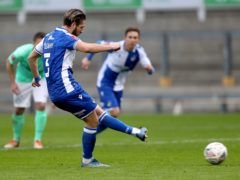 Luke Leahy netted a brace for Bristol Rovers (Andrew Matthews/PA)