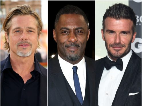 Brad Pitt, Idris Elba and David Beckham have all been honoured with the title of sexiest man alive by People magazine (Matt Crossick/Isabel Infantes/Jonathan Brady/PA)