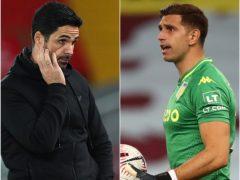 Arsenal boss Mikel Arteta sold Emiliano Martinez to Aston Villa (PA)