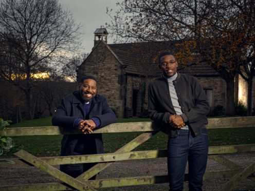 Kevin Mathurin and Emile John in Emmerdale (Mark Bruce/ITV/PA)