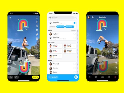 Snapchat's new Spotlight feature (Snapchat)