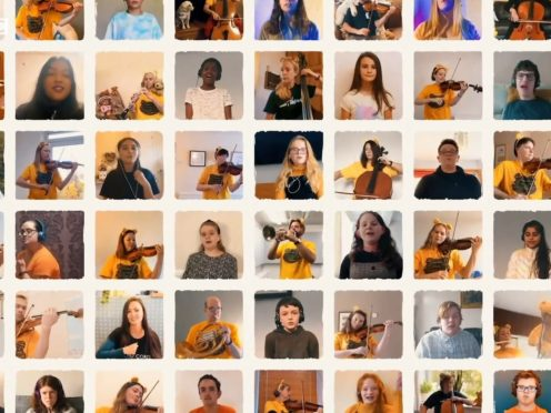 A performance of a song from Dear Evan Hansen, recorded in isolation by BBC Philharmonic with singers from projects funded by Children in Need (BBC Philharnomic)