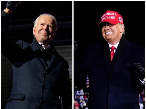 Joe Biden and Donald Trump (PA)