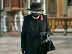 The Queen during a ceremony in London's Westminster Abbey to mark the centenary of the burial of the Unknown Warrior (Aaron Chown/PA)