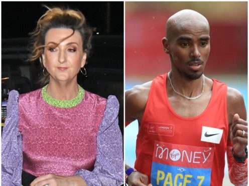 Victoria Derbyshire and Sir Mo Farah are rumoured to be going into the castle (PA)