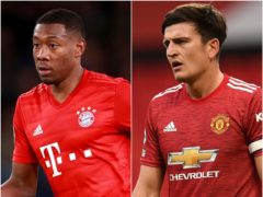 David Alaba/ Harry Maguire (Adam Davy/ Oli Scarff/PA)
