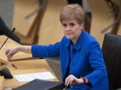 Nicola Sturgeon said the aprons had been mislabelled as bin bags (Jane Barlow/PA)