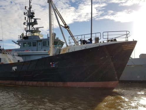 Boat intercepted by the NCA, Immigration Enforcement and Border Force (NCA)