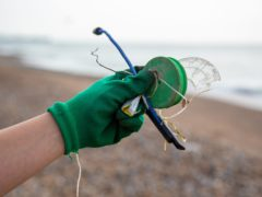 Conservationists said this year's Great British Beach Clean found a concerning amount of PPE litter, and pieces of plastic were the most common items found (Marine Conservation Society/PA)