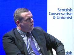 Douglas Ross said he would work with 'anyone and everyone' to get Tory policies enacted (Scottish Conservatives/PA)