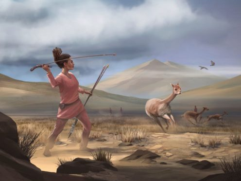 An illustration depicting a female who may have appeared in Peru 9,000 years ago (Matthew Verdolivo/University of California)