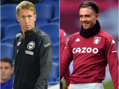 Brighton boss Graham Potter is a huge fan of Jack Grealish (Glyn Kirk/Gareth Copley/PA)