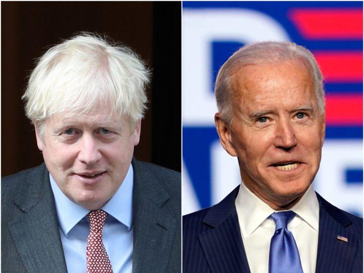 Boris Johnson and Joe Biden (Yui Mok/PA/Carolyn Kaster/AP)