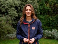 The Duchess of Cambridge delivering her video message to the British America's Cup Team (Kensington Palace/PA)