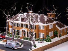 The gingerbread house (Matt Alexander/PA)