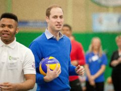 The Duke of Cambridge takes part in a Coach Core apprentice training session at Westway Sports Centre, London (Ben Gurr/The Times/PA)