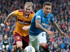 Richard Tait, left, came out on top in a previous Betfred Cup meeting with James Tavernier (Jane Barlow/PA)