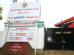 Stevenage have been forced to postpone their next two games (Nigel French/PA)