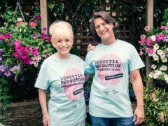 Dame Barbara Windsor and husband Scott Mitchell (Alzheimer's Society/PA)