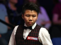 Zhou Yuelong made a maximum 147 break on the first day of the Scottish Open (Simon Cooper/PA)