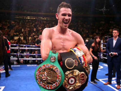 Callum Smith is set to make the third defence of his WBA super-middleweight title this weekend (Nick Potts/PA)