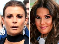 Coleen Rooney, left, and Rebekah Vardy (Peter Byrne/Ian West/PA)