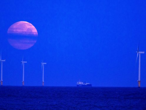 There has been an increase in renewable energy (Peter Byrne/PA)