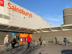 Sainsbury's will pay £440m saved from the business rates holiday. (Ben Birchall/PA)