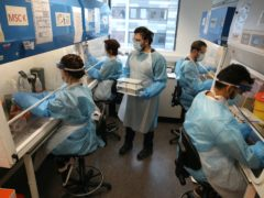 The lab can process thousands of coronavirus tests a day (Andrew Milligan/PA)