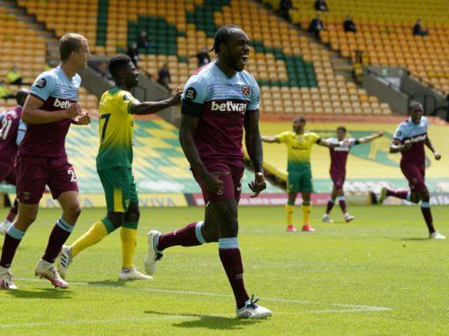 Michail Antonio scored four times against Norwich last season (Tim Keeton/NMC Pool/PA)