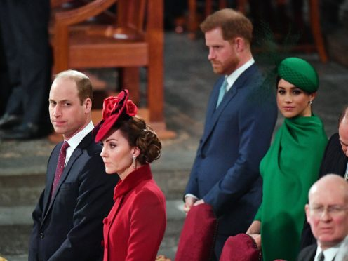 The Cambridges and the Sussexes at Harry and Meghan's final official public engagement (Phil Harris/Daily Mirror/PA)
