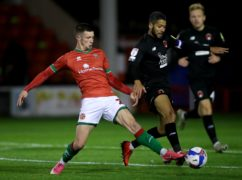 Rory Holden, left, is a major doubt for Walsall (Nick Potts/PA)