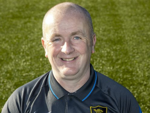Davie Martindale guided Livingston to win over Dundee United (Jeff Holmes/PA)