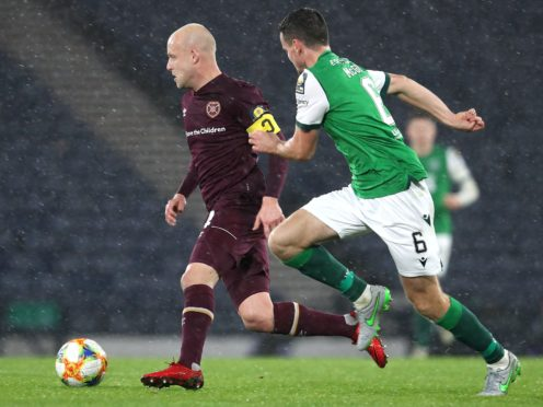 Steven Naismith, left, aims to fire Hearts to glory (Andrew Milligan/PA)