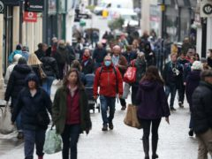 People on a high street in Winchester. Around one in 14 people made or updated their will during the early months of the coronavirus lockdown, according to the Law Society (Andrew Matthews/PA)