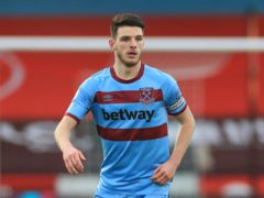 Frank Lampard insists Chelsea cannot regret releasing Declan Rice, pictured, as a teenager (Mike Egerton/PA)