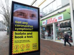 New coronavirus controls in England will have to remain in place for the next few months, Matt Hancock has warned (Andrew Matthews/PA)