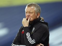 Chris Wilder's Sheffield United are bottom of the Premier League with one point from 13 games (Andrew Boyers/PA).