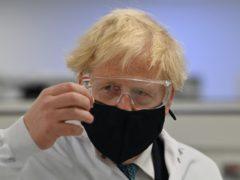 Boris Johnson faces a Tory revolt over new coronavirus controls for England (Paul Ellis/PA)